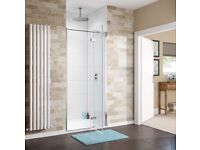 1200 x 800mm hinged easy clean glass shower enclosure. Unopened