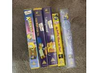 Bundle of 5 SIMPSONS VHS TAPES