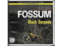 8 CD Unabridged Audio Book Karin Fossum Black Seconds (9 hours long) Superb story