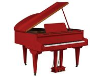 Tesoro Nero - Red Baby Grand Piano - Summer Sale 20% Off!!!