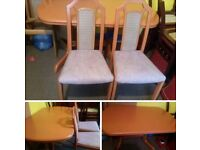 VERY CHEAP. TABLE AND 6 CHAIRS .EX.CONDITION