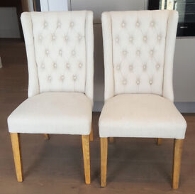 DINING CHAIRS: 4 x GORGEOUS QUILTED CHESTERFIELD STYLE