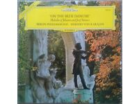 Herbert von Karajan ‎– 'On The Blue Danube' Melodies of Johann & Josef Strauss Classical LP Record