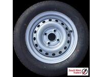Brand New 155 70 R13 Trailer Spare Wheel - Free Delivery UK Mainland