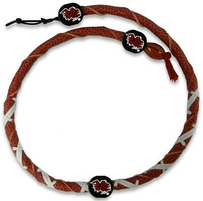 South Carolina Gamecocks Classic Spiral Football Necklace [NEW] Jewelry Leather
