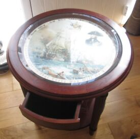 Trafalgar side table with glass top
