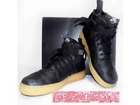 Nike SF Air Force 1 mid (open to sensible offers) Black Gum sole military styling size 9 trainers