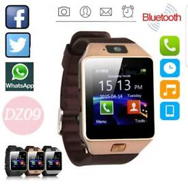 With brown stripes Bluetooth smart watch for android and iPhone brand new in box