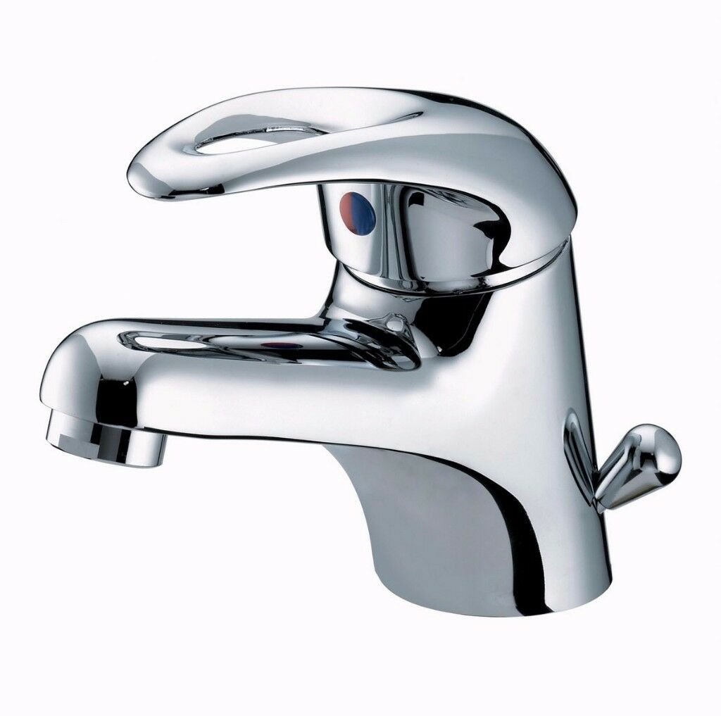 BRAND NEW Bristan Java Contemporary Chrome Basin Mixer Tap with Pop-up Waste (RRP£90 )