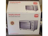 Morphy Richards Rotisserie Mini Oven 25l used once