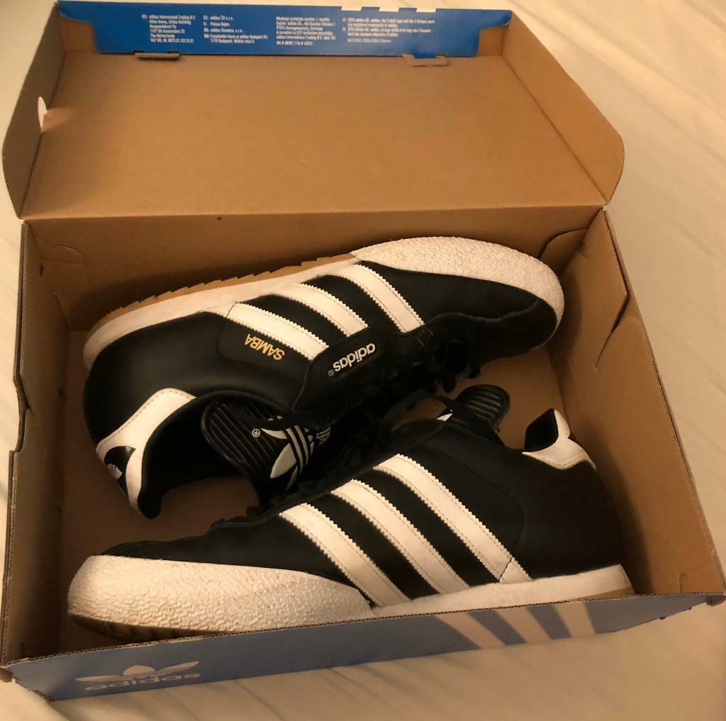 Identidad explosión Inadecuado  Men's Black Adidas Samba Trainers Size UK 10 (Worn Once) RRP ...