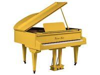 Tesoro Nero - Yellow Baby Grand Piano - Summer Sale 20% Off!!!