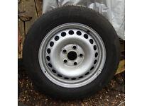 vw t5 steel wheel with good tyre