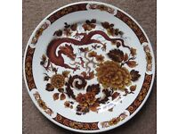 """4x Myott-Meakin 9.25"""" Dinner Plate Dragon of Kowloon Franciscan Dynasty Collection - Good Condition"""