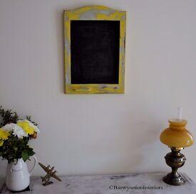 Shabby Chic Chalk board/Kitchen notice board