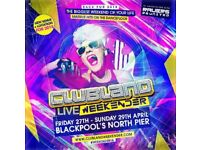 CLUBLAND LIVE WEEKENDER TICKET FRIDAY27th APRILto SUNDAY 29th APRIL