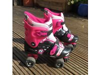 Rollerskates – fully adjustable size 1-4