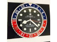 Rolex Wall Clock, Large Size Metal Clock, Pepsi GMT