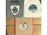 3 Mike Oldfield 7 inch 45 rpm vinyl