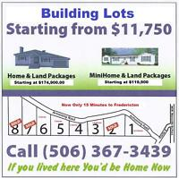 Building Lots (Acreage) NOW Only 15 Minutes to Fredericton