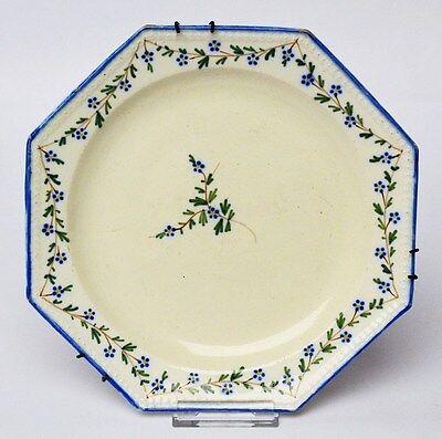 Wandteller Keramik Fayence handbemalt Keller & Guerin Luneville France um 1840