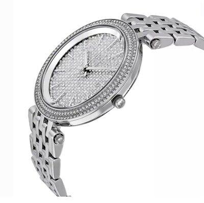 NEW Michael Kors MK3437 Darci Pave Silver Tone Ladies Wrist Watch