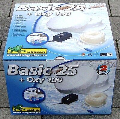 UBBINK Eisfreihalter Basic 25 + Belüftungspumpe Oxy 100 im SET