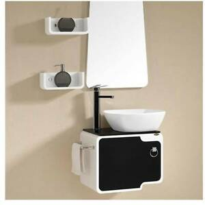 High Gloss Bathroom Vanity Sink Unit Wall Hang Furniture With Mirror Shelf Ebay