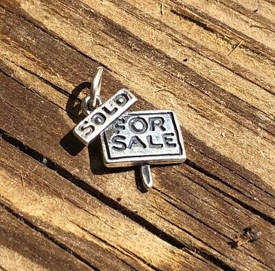 Sterling Silver For Sale Sign Sold Charm Pendant Real Estate   925 Nwot