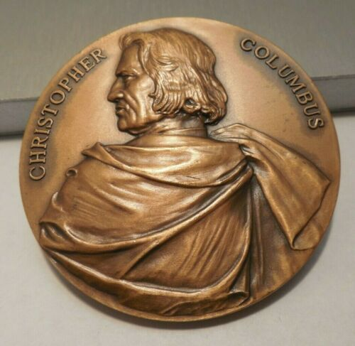 Knights of Columbus 500th Anniversary Christopher Columbus Bronze Medallion