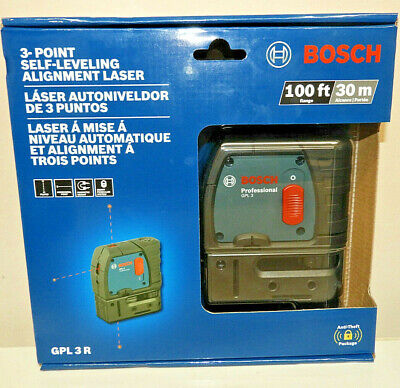 Bosch GPL 3 R 100ft 3-point Self-leveling Alignment Laser Brand New & Sealed