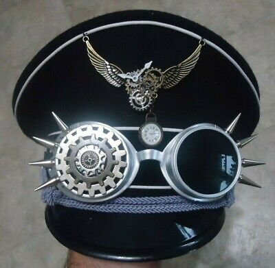 WOW! Steampunk, Custom Made, Luftwaffe Cap Halloween, Party, Costume, FREE S&H