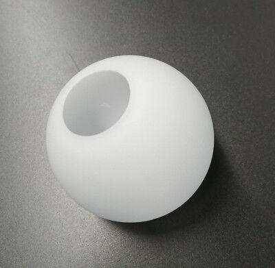 Glas Lampenschirm Ersatzglas Kugel weiß Lochmaß Fassung ø 40mm ø Glas 100mm