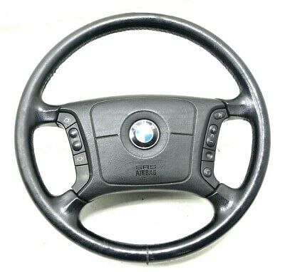 Lenkrad mit Echtlederbezug passend für BMW 3er E46 Lederlenkrad // Tuning F03