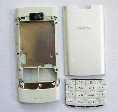 White housing fascia facia cover case faceplate for nokia x3-02 x3 02   ()