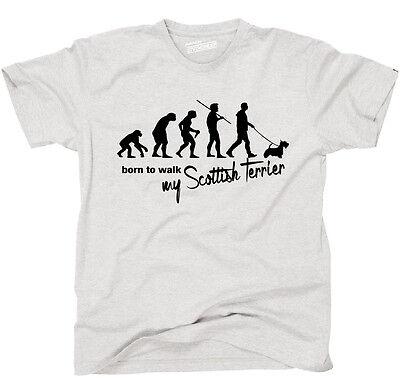 Scottish Terrier T-shirt (TEVO T-Shirt Hunde EVOLUTION SCOTTISH TERRIER born to walk Siviwonder )