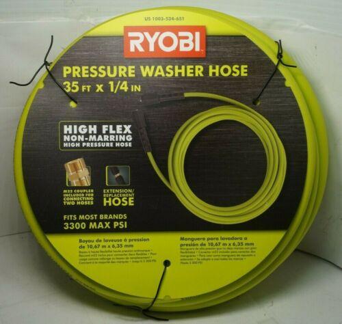 "(RI4) Ryobi 35ft x 1/4"" 3300 PSI Pressure Washer Replacement Hose"