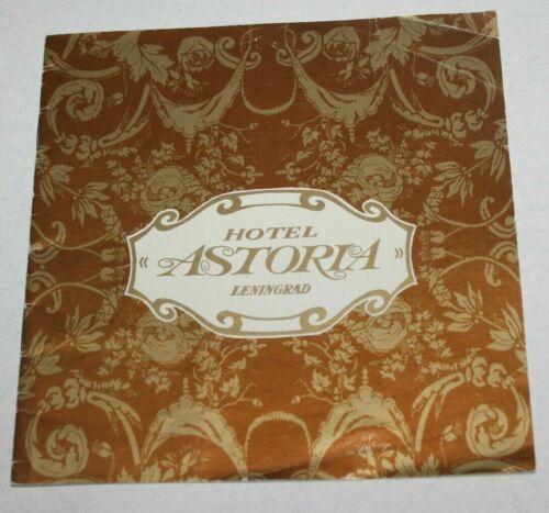 70s vintage  hotel  ASTORIA USSR booklet  Leningrad Advertising brochure