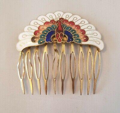 Vintage Peacock Hair Grip