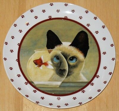 COLLECTABLE  CAT PLATE LOWELL HERRERO  1986