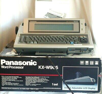 Word Processor Panasonic Model Kx-w905 Electric Typewriter W Manual Box Ex