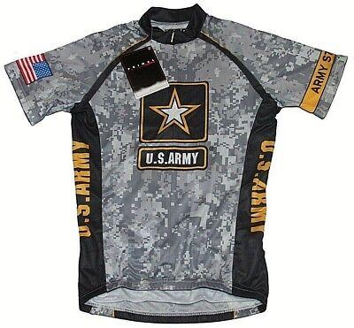 9aeb1a16e Primal Wear Men s U.S. Army Camo Cycling Jersey Grey Black Sz Sm NWT