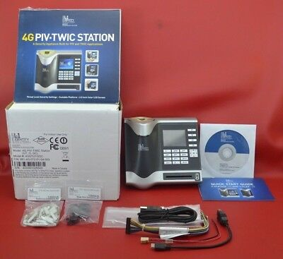L-1 Identity Solution 4g Piv Twic Station 4gstu1ggc Biometric Fingerprint Reader