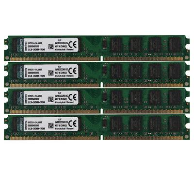 Kingston 4X 2G Intel 2Rx8 PC2-6400 DDR2 800Mhz DIMM Arbeitsspeicher Desktop @9HH