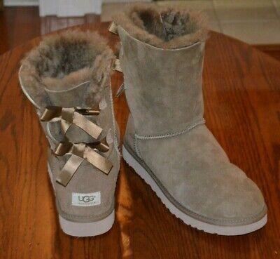 Ugg Australia 1002954 Brown Bow Winter Boots SZ U.S. 10 EU 41 - WORN A WEEKEND!