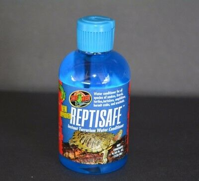 NEW IMPROVED Zoo Med ReptiSafe Instant Terrarium Water Conditioner (4.25 oz) Terrarium Water Conditioner