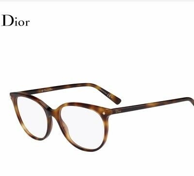 Luxus Designer Original Christian Dior Damen Brille Havanna NP 369 € Miu