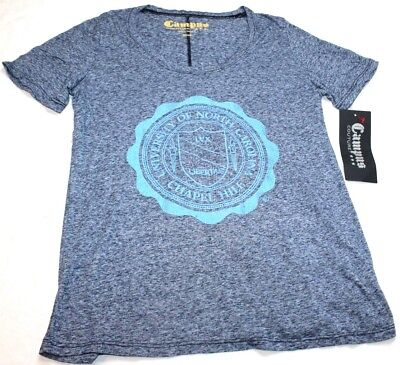 Campus Couture Womens Tee T Shirt Heather Blue North Carolina Size Medium