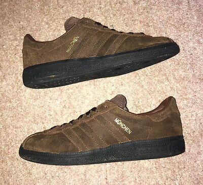 Adidas Munchen Brown & Black Casual Trainers Mens Size UK 6 VGC