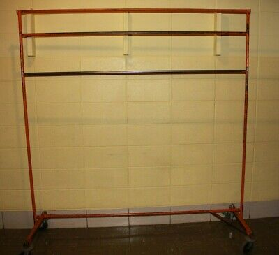Used Commercial Grade Heavy-duty Z Rack Style Clothes Rack With Casters